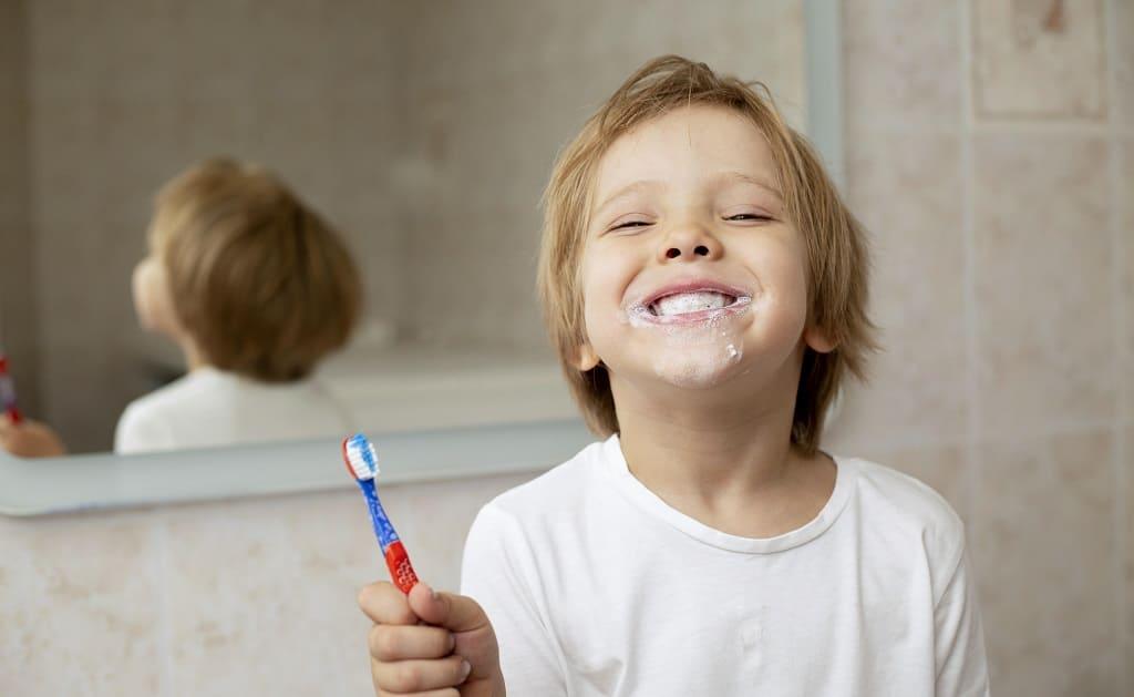El control de la placa bacteriana en niños